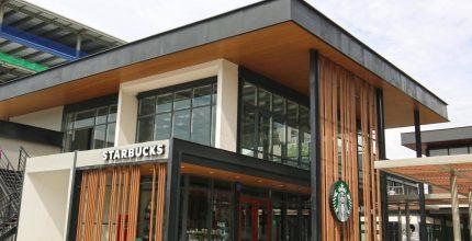 Starbucks, wood-plastic decorative wallboard